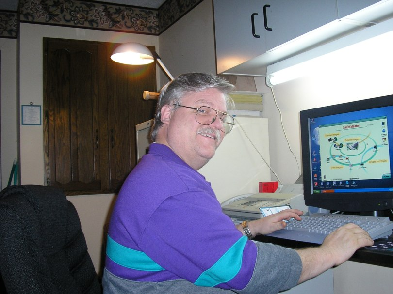 Tom Reischel at Home on Computer