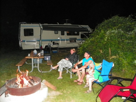 Camping by Fire