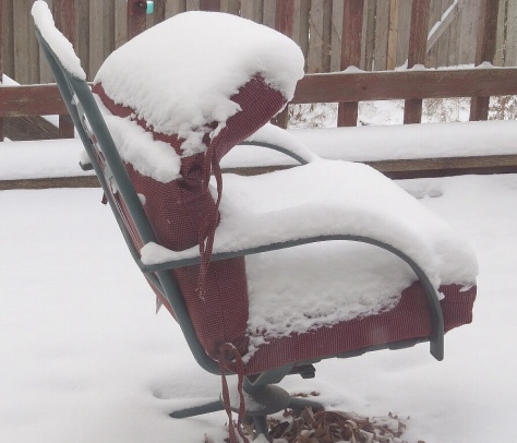 Snow Covered Lounge Chair
